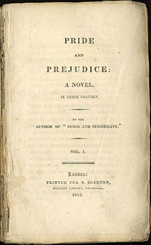 frontespizio di pride and prejudice