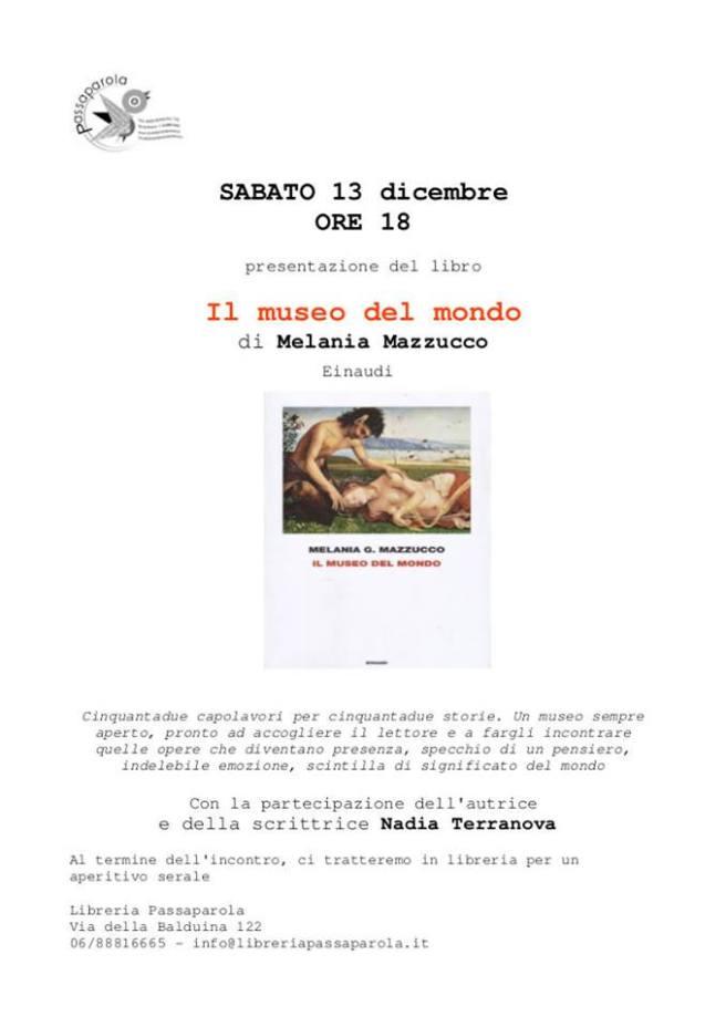 Melania Mazzucco Il museo del mondo